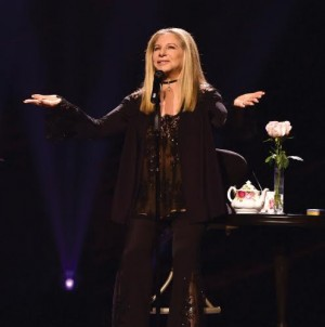 "PHILADELPHIA, PA - AUGUST 20:  Barbra Streisand performs onstage during the ""Barbra - The Music... The Mem'ries... The Magic!"" tour at Wells Fargo Center on August 20, 2016 in Philadelphia, Pennsylvania.  (Photo by Lisa Lake/WireImage for BSB)"